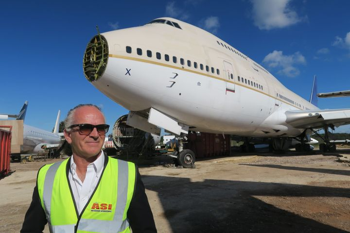 Mark Gregory, 55, used money from his severance package to set up ASI two decades ago. It now handles around 14 percent of the worldwide aircraft disassembly market.