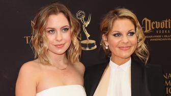 LOS ANGELES, CA - MAY 01:  Actress Candace Cameron-Bure (R) and her Daughter Natasha Valerievna Bure (L) attend the 2016 Daytime Emmy Awards at The Westin Bonaventure Hotel on May 1, 2016 in Los Angeles, California.  (Photo by Paul Archuleta/FilmMagic)
