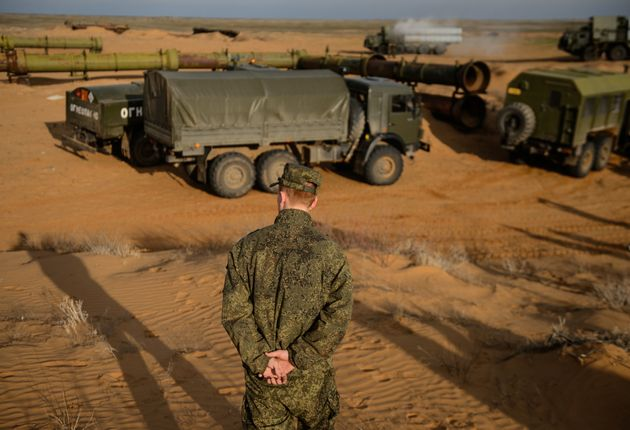 An S-300PM air defence missile system during a joint military drill by Air Force and Air Defence Force...