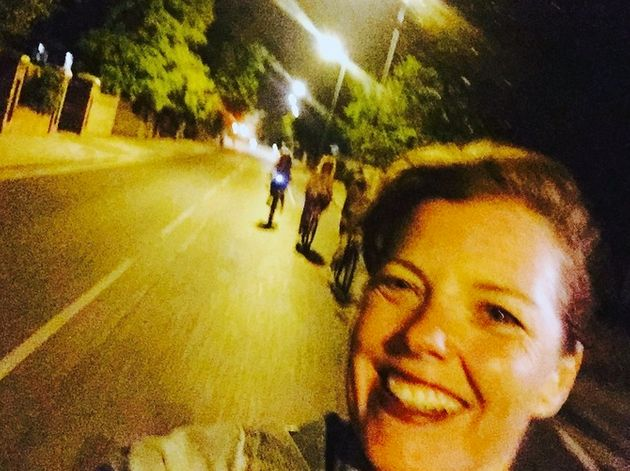 Carmen Greenway diedfollowing a bicycle crash in London moments after she took a smiling