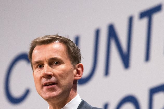 Jeremy... Hunt at the Tory Conference in