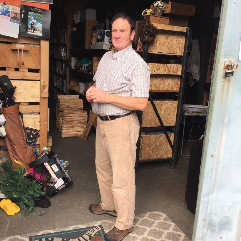 Richard Moore in his Gearhart warehouse