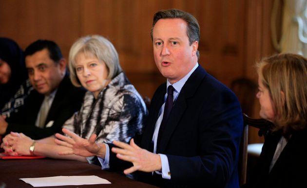 Theresa May and David