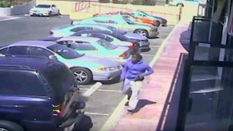 A still image taken from closed-circuit TV provided by the Los Angeles Police Department (LAPD) October 4, 2016 shows a suspect fleeing police pursuit on October 1, 2016.  Courtesy of LAPD/Handout via REUTERS    ATTENTION EDITORS - THIS IMAGE WAS PROVIDED BY A THIRD PARTY. EDITORIAL USE ONLY.     TPX IMAGES OF THE DAY