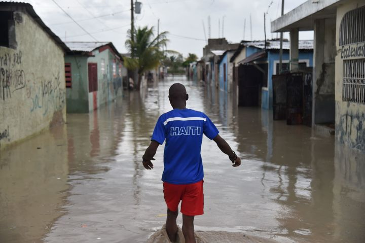 The hurricane caused wide-spread flooding in Haiti.