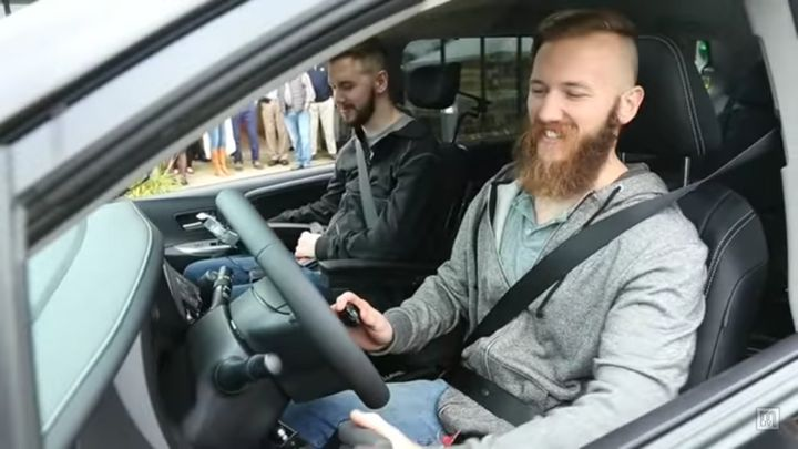 Brothers Adam (left) and Mat Chaffee in their new van.
