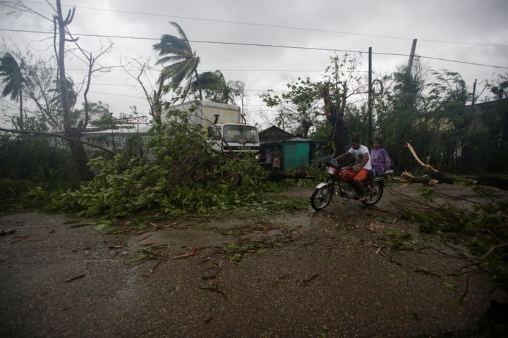 Les Cayes, Haiti was especially hard-hit by driving rain and tearing wind.