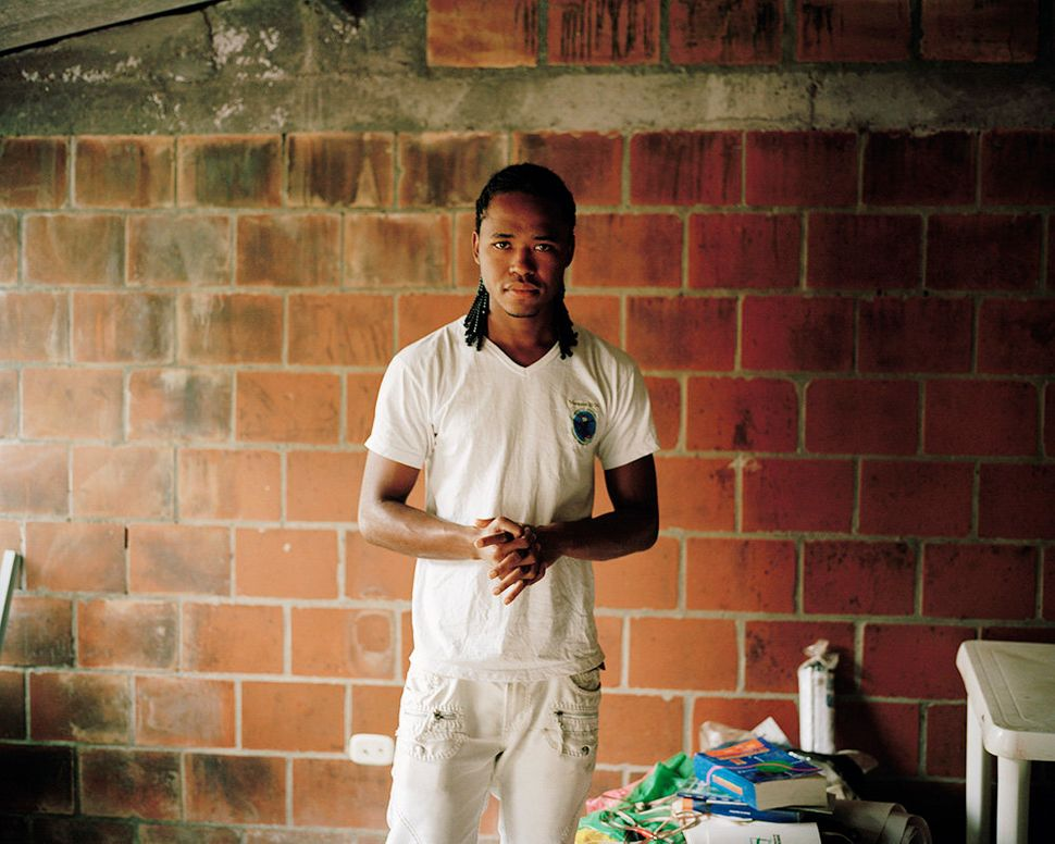 David, a youth leader in a town which hosts many displaced families from the ongoing war in Colombia.