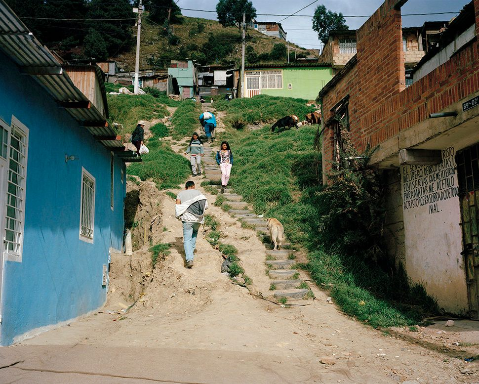 The community of Usme, on the outskirts of Bogota, is a new home to families who have fled from violence in other parts of th