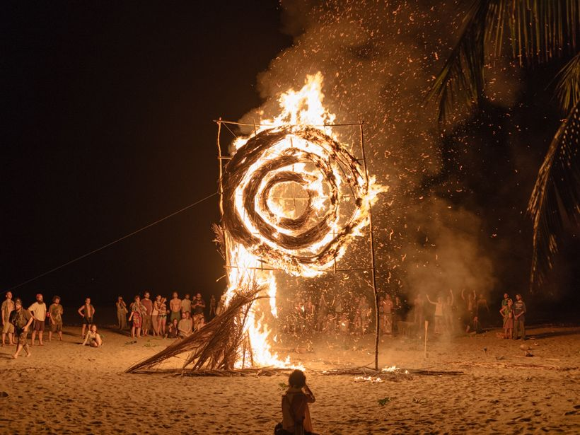 Equilbrio closing ceremony, Playa El Esteron, El Salvador