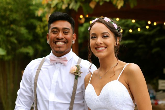 The couplehosted a backyard wedding for their closest family and