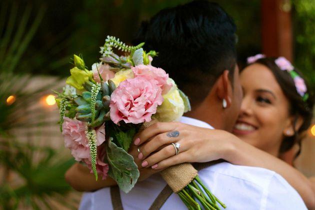 The bride said the wedding was