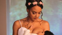 Young Mum Silences Critics With Breastfeeding Wedding