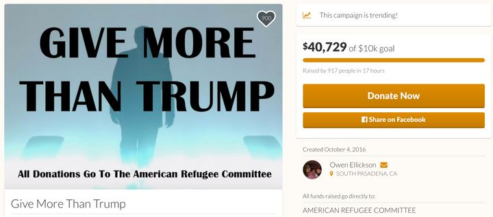As of the time this story published, the GoFundMe had raised over$40,000-- more than four times its original goal