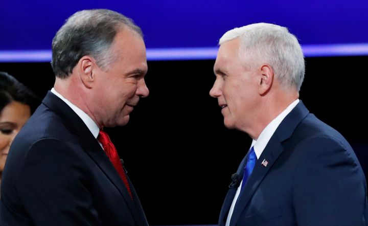 The two VP candidates faced off in a debate Tuesday.