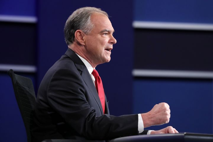 Democratic vice presidential nominee Sen. Tim Kaine (D-Va.) criticized Donald Trump for avoiding paying federal income taxes