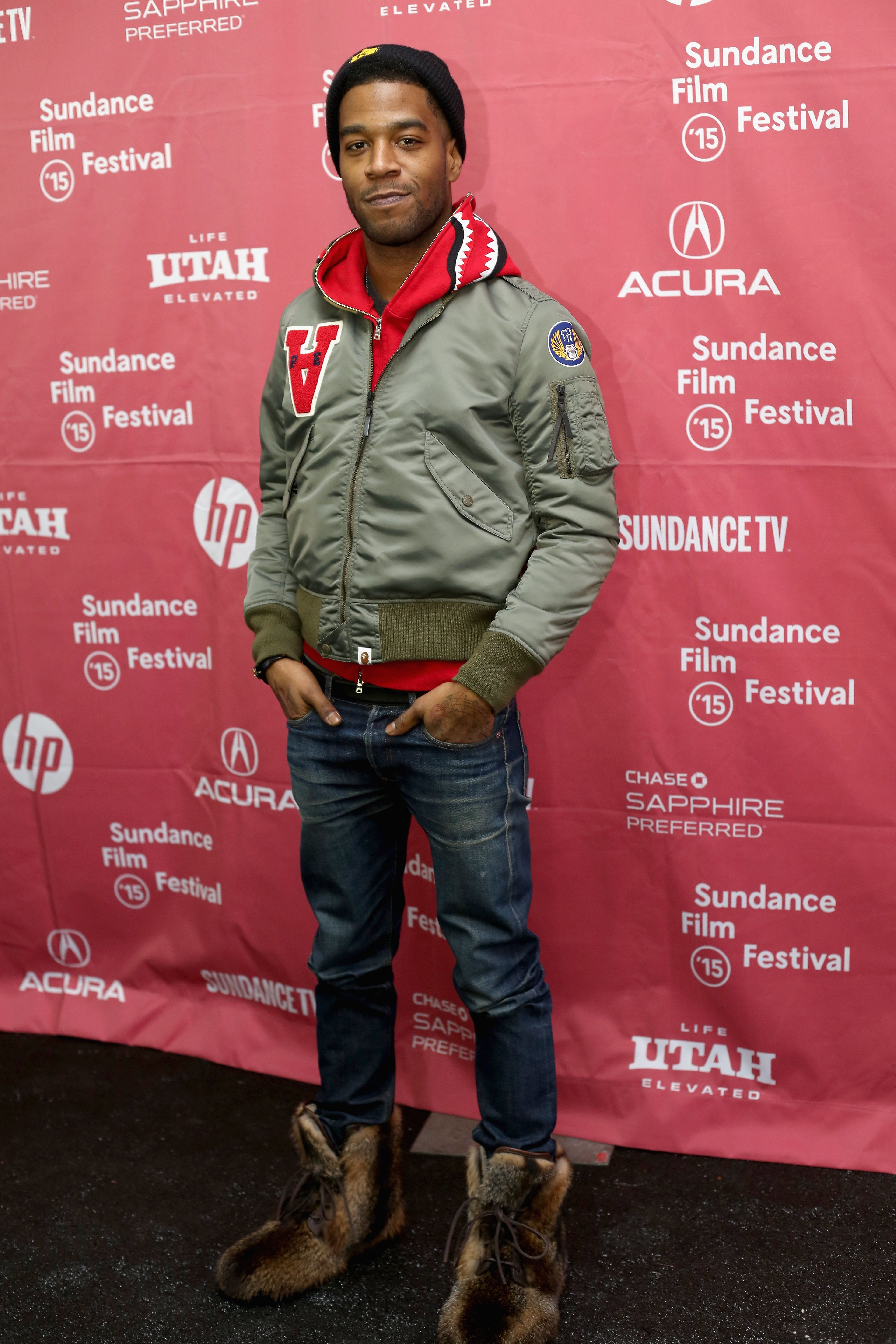 PARK CITY, UT - JANUARY 23:  Kid Cudi attends the  'James White' Premiere during the 2015 Sundance Film Festival at Library Center Theater on January 23, 2015 in Park City, Utah.  (Photo by Kim Raff/Getty Images for Sundance)