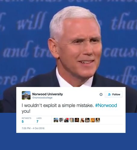 Mike Pence Thanks Fake University During Debate, Twitter Goes