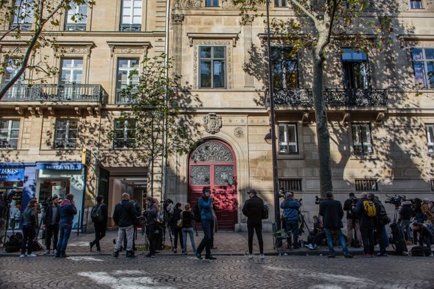 Kim's luxury apartment Hotel de Pourtales where she was robbed at gunpoint by masked