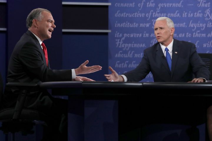 Democratic vice presidential nominee Tim Kaine and Pence clashduring the Vice Presidential Debate.