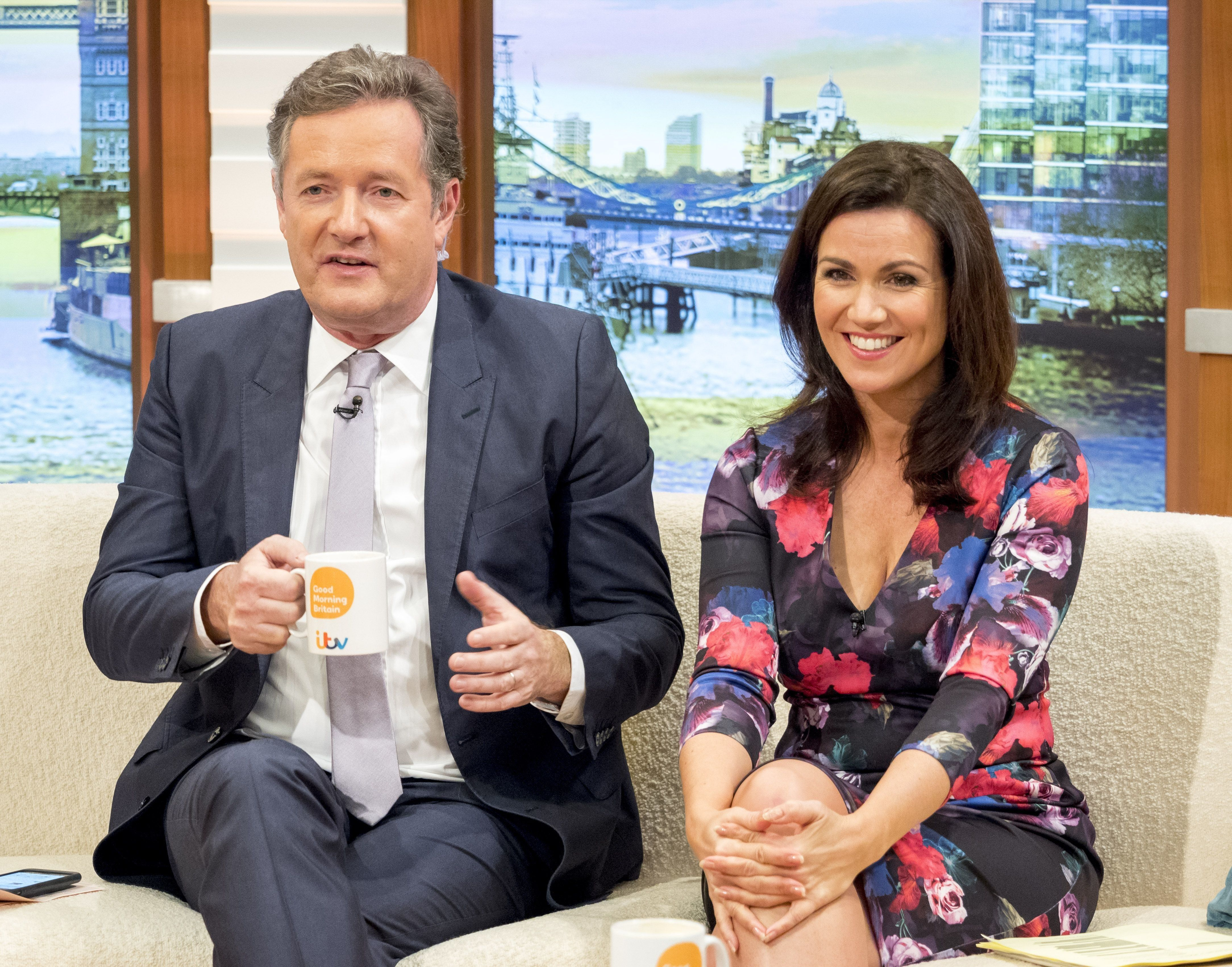 Piers Morgan and Susanna Reid on 'Good Morning