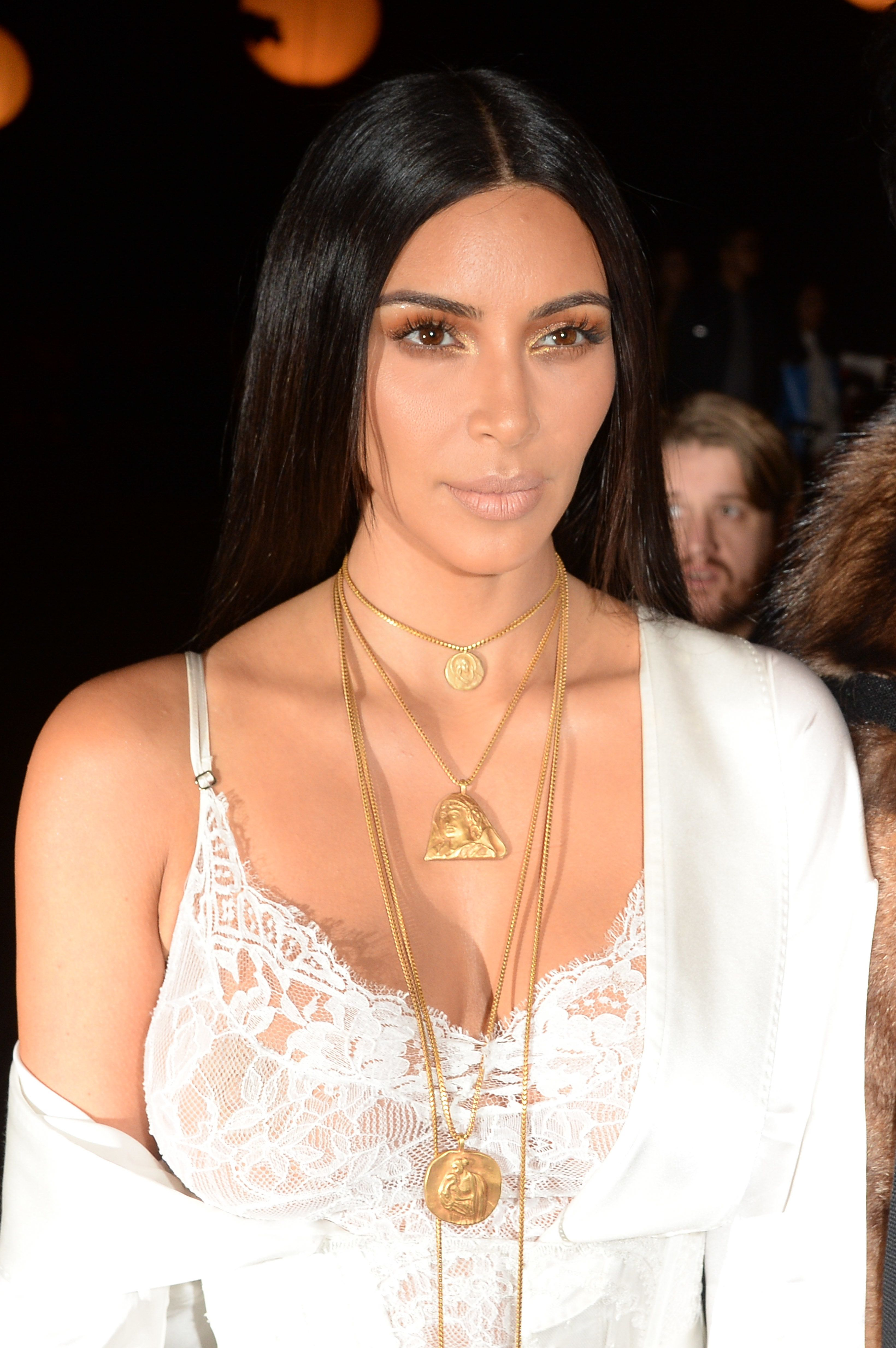 Kim has never been retiring when it comes to showing off her