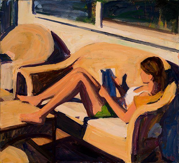 Marsha in the Sun, Oil on linen, 24 in x 26 in.