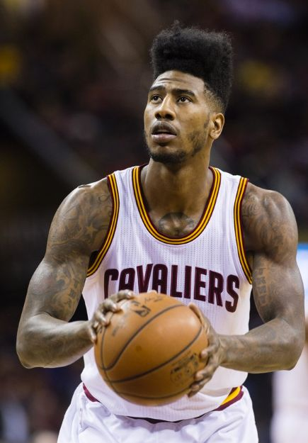 Shumpert's hair is a high-flying super-fade, a retro look that's chock-full of swagger.