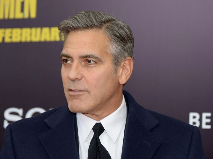 Clooney's had a lot of different haircuts, all culminating in this one perfect, classy side part.