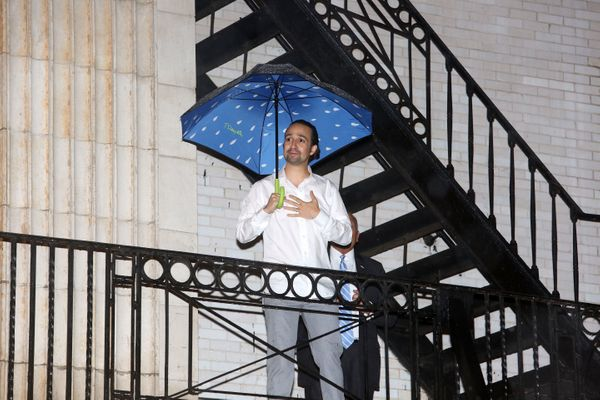 """Or maybe practicing for his upcoming """"Mary Poppins"""" role."""