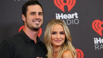 LAS VEGAS, NV - SEPTEMBER 23: TV personalities Lauren Bushnell (L) and Ben Higgins attend the 2016 iHeartRadio Music Festival Night 1 at T-Mobile Arena on September 23, 2016 in Las Vegas, Nevada.  (Photo by JB Lacroix/WireImage)