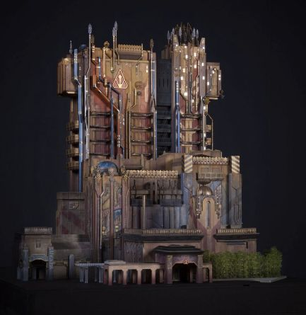 Oil refineries and power plants inspired the design for thenew Guardians of the Galaxy ride.