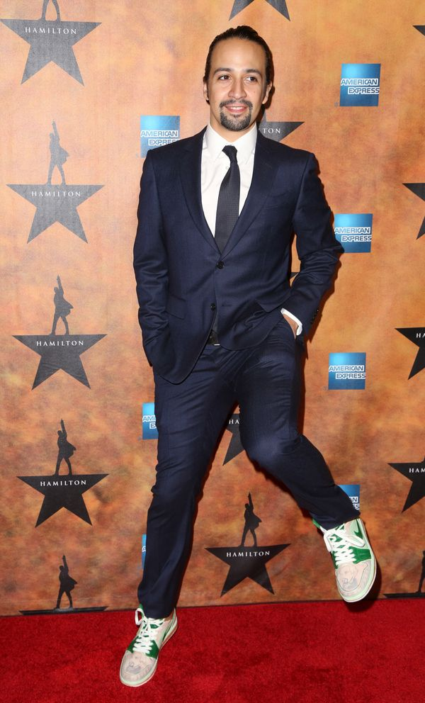 A: A formally dressed Lin-Manuel Miranda in sneakers. DUH.