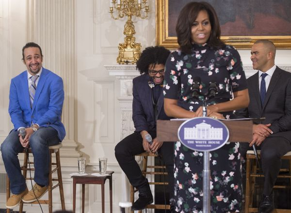 Being cute at The White House: All in a day's work.