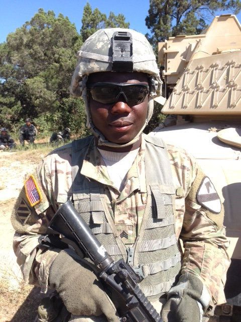 Sgt. Brima Kamara serves with the 1st Cavalry Division at Fort Hood, Texas.