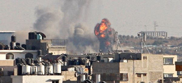 Israeli Aircraft Launch Attack On Hamas In Gaza