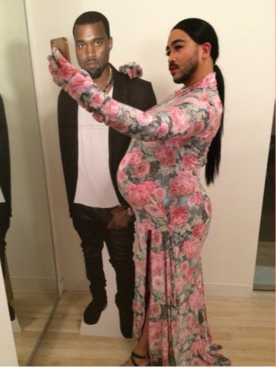 """Solarte getting kreative as Kim K. """"I hope more people stop buying costumes (ahem... Leg Avenue) and start making their own!""""he said."""