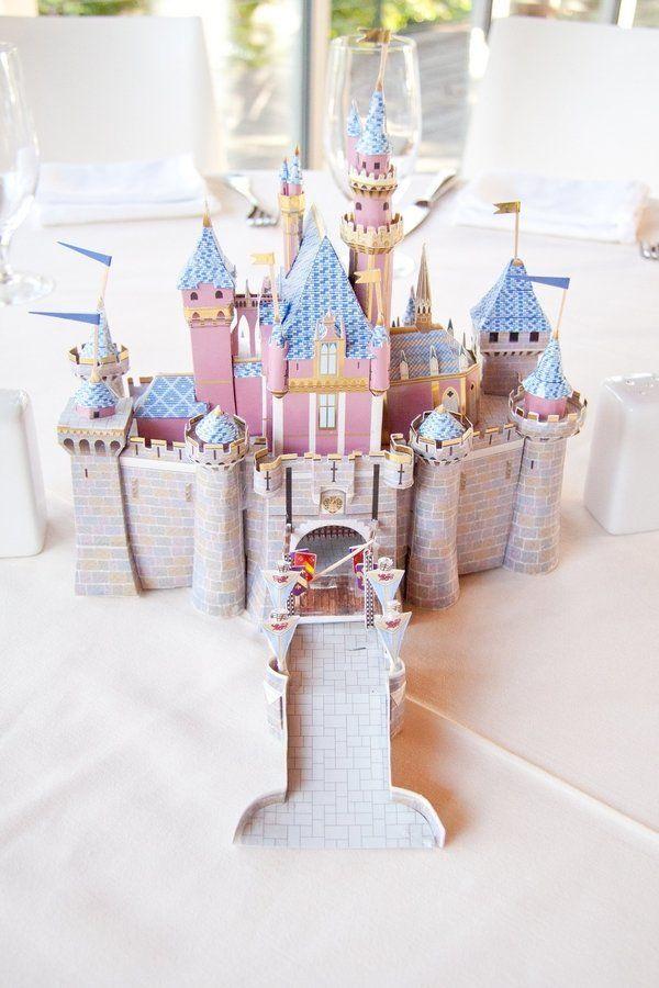 """""""Sleepy Beauty"""" table with a castle."""