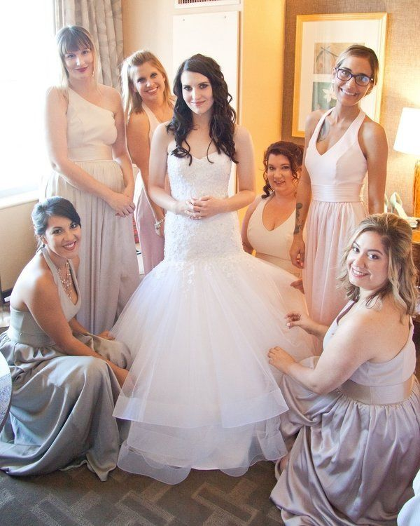 Ashley looked like a real-life Princess in her Alfred Angelo gown.