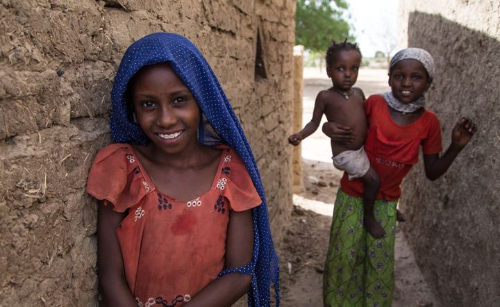 Kids seen in astreet alleyin N'djamena, Chad, on June 22, 2015. One of the main problems faced by children is pov
