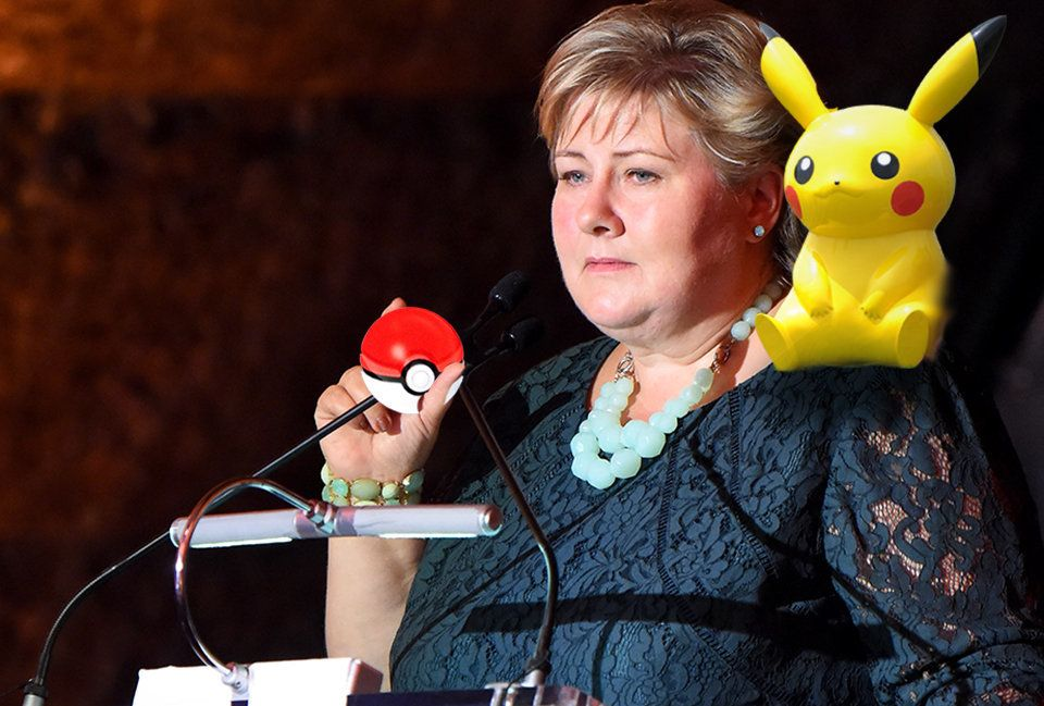 Erna Solberg dabbles in Pokemon