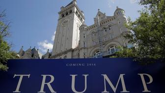 The Trump International Hotel stands ahead of its scheduled opening in September in Washington, U.S., August 11, 2016.      REUTERS/Joshua Roberts