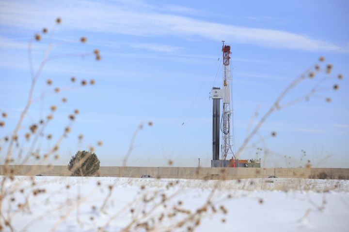 Fracking rigs, like this one in Weld County, Colorado, are driving national controversy.