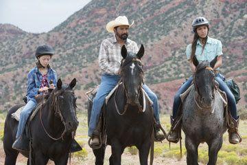 Ella (Isabella Blake-Thomas), Miguel (Steven Michael Quezada), and Rosie (Esperanza Fermin) in a scene from Kepler's Dream