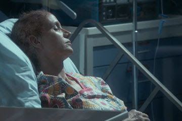 Amy (Kelly Lynch) undergoes stem cell treatment as a last-ditch cure for cancer in a scene from Kepler's Dream