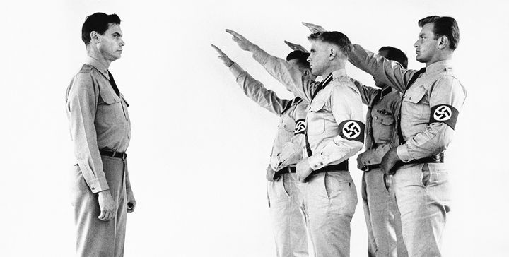 George Lincoln Rockwell, commander of the American Nazi Party, Arlington, Virginia