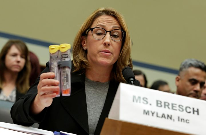 Mylan CEO Heather Bresch was blasted by lawmakers during a congressional hearing last month for raising the list price for a