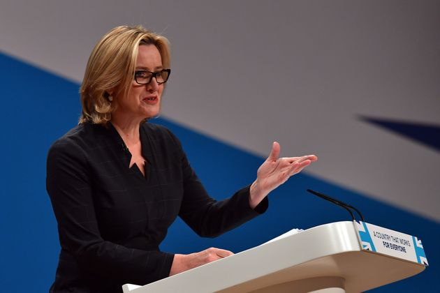 Amber Rudd announced her policy to 'name and shame' companies at the Conservative