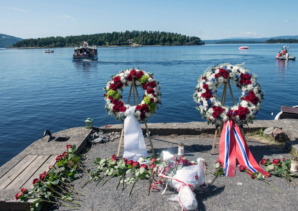 A wreath laying ceremony marks the second year anniversary of the twin Oslo-Utoya massacre. The...