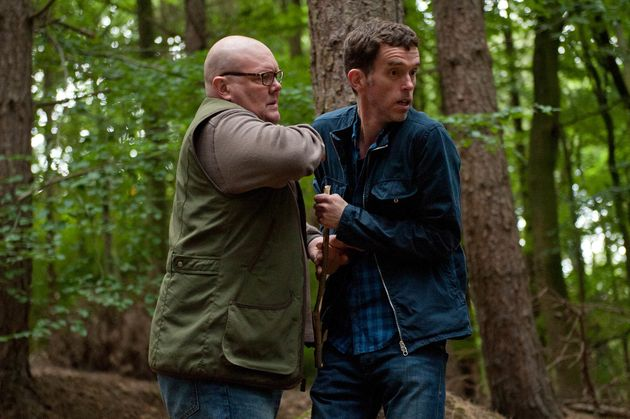 Paddy and Marlon are alarmed when they hear someone in the woods (then relieved when it's